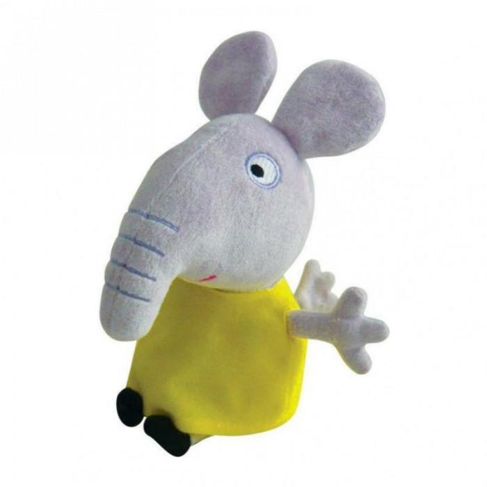Мягкая игрушка Peppa Pig Слоник Эмили 20 смСлоник Эмили 20 смМягкая игрушка Peppa Pig Слоник Эмили 20 см станет замечательным подарком для малышки. Малютка будет играть с ней дома, может взять с собой и в садик, и в гости.   Особенности: Эмили одета в милое желтое платьице, которое можно снимать и надевать. Девочка будет играть с ней дома, в садике или в гостях, познакомит свинку со своими друзьями. Да и сны в обнимку с любимой героиней гораздо интереснее!  Игрушка имеет высоту 20 см (размер указан с ножками) и очень приятна на ощупь, так как изготовлена из велюровой ткани и плотно набита.  Товар сертифицирован.<br>