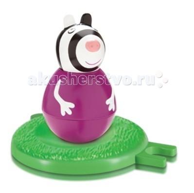 Peppa Pig Фигурка-неваляшка Зебра ЗоиФигурка-неваляшка Зебра ЗоиPeppa Pig Фигурка-неваляшка Зебра Зои станет замечательным подарком для малышки.  Особенности: Покрутите фигурку на столе или полу, и она «затанцует», закрутится, закачается в разные стороны и даже не подумает упасть.  Задорная игра с неваляшкой развивает у детей координацию движений, тренирует цветовосприятие и мышление.  Соберите коллекцию неваляшек в виде любимых героев мультфильма «Свинка Пеппа» и устраивайте веселые игры с малютками! В наборе: фигурка-неваляшка размером 7,8 х 4,5 см с выпуклыми ручками, игровое поле диаметром 8 см, соединяющееся с игровыми полями из других наборов по типу пазлов.  Игрушки выполнены из пластика и пластизоля.  Товар сертифицирован и безопасен для детского использования.<br>