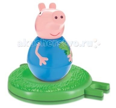 Peppa Pig Фигурка-неваляшка малыш ДжорджФигурка-неваляшка малыш ДжорджPeppa Pig Фигурка-неваляшка малыш Джордж станет замечательным подарком для малышки.  Особенности: Покрутите фигурку на столе или полу, и она «затанцует», закрутится, закачается в разные стороны и даже не подумает упасть.  Задорная игра с неваляшкой развивает у детей координацию движений, тренирует цветовосприятие и мышление.  Соберите коллекцию неваляшек в виде любимых героев мультфильма «Свинка Пеппа» и устраивайте веселые игры с малютками! В наборе «Бабушка Пеппы» ТМ «Свинка Пеппа»: фигурка-неваляшка в виде бабушки размером 11х6,5 см с выпуклыми ручками.  Игрушки выполнены из пластика и пластизоля.  Товар сертифицирован и безопасен для детского использования.  В наборе:  фигурка-неваляшка с выпуклыми ручками размером 7,8 х 4,5 см игровое поле диаметром 8 см, соединяющееся с игровыми полями из других наборов по типу пазлов<br>