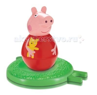 Peppa Pig Фигурка-неваляшка Свинка ПеппаФигурка-неваляшка Свинка ПеппаPeppa Pig Фигурка-неваляшка Свинка Пеппа станет замечательным подарком для малышки.  Особенности: Покрутите фигурку на столе или полу, и она «затанцует», закрутится, закачается в разные стороны и даже не подумает упасть.  Задорная игра с неваляшкой развивает у детей координацию движений, тренирует цветовосприятие и мышление.  Соберите коллекцию неваляшек в виде любимых героев мультфильма «Свинка Пеппа» и устраивайте веселые игры с малютками! В наборе «Бабушка Пеппы» ТМ «Свинка Пеппа»: фигурка-неваляшка в виде бабушки размером 11х6,5 см с выпуклыми ручками.  Игрушки выполнены из пластика и пластизоля.  Товар сертифицирован и безопасен для детского использования.  В наборе:  фигурка-неваляшка с выпуклыми ручками размером 7,8 х 4,5 см игровое поле диаметром 8 см, соединяющееся с игровыми полями из других наборов по типу пазлов<br>