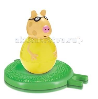 Peppa Pig Фигурка-неваляшка Пони ПедроФигурка-неваляшка Пони ПедроPeppa Pig Фигурка-неваляшка Пони Педро станет замечательным подарком для малышки.  Особенности: Покрутите фигурку на столе или полу, и она «затанцует», закрутится, закачается в разные стороны и даже не подумает упасть.  Задорная игра с неваляшкой развивает у детей координацию движений, тренирует цветовосприятие и мышление.  Соберите коллекцию неваляшек в виде любимых героев мультфильма «Свинка Пеппа» и устраивайте веселые игры с малютками! В наборе «Бабушка Пеппы» ТМ «Свинка Пеппа»: фигурка-неваляшка в виде бабушки размером 11х6,5 см с выпуклыми ручками.  Игрушки выполнены из пластика и пластизоля.  Товар сертифицирован и безопасен для детского использования.  В наборе:  фигурка-неваляшка с выпуклыми ручками размером 7,8 х 4,5 см игровое поле диаметром 8 см, соединяющееся с игровыми полями из других наборов по типу пазлов<br>