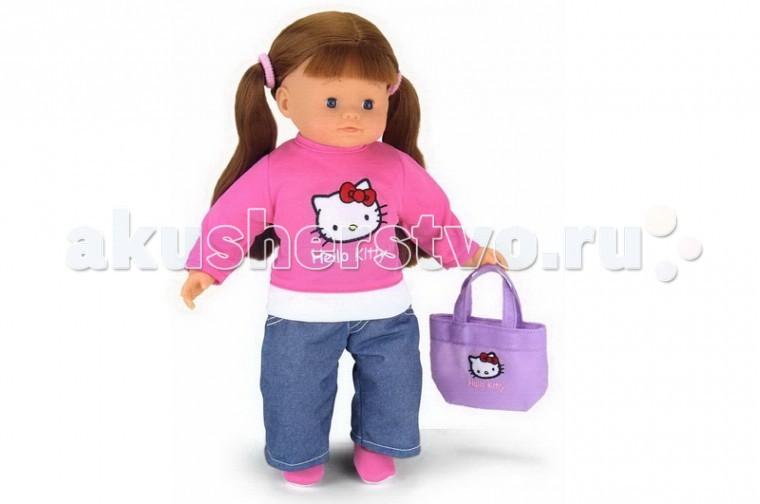 Smoby Кукла Роксана Hello Kitty 35 смКукла Роксана Hello Kitty 35 смКукла Smoby Роксана - очень красивая, стильная куколка из серии Hello Kitty.   Особенности:    Голова, ручки и ножки Роксаны выполнены из качественного пластика, а тельце куколки - мягконабивное.   Одета Роксана очень стильно, кофточка с изображением любимицы многих девочек, кошечки Китти.   У Роксаны волосы собраны в два веселеньких хвостика.    Размер: 35 см<br>