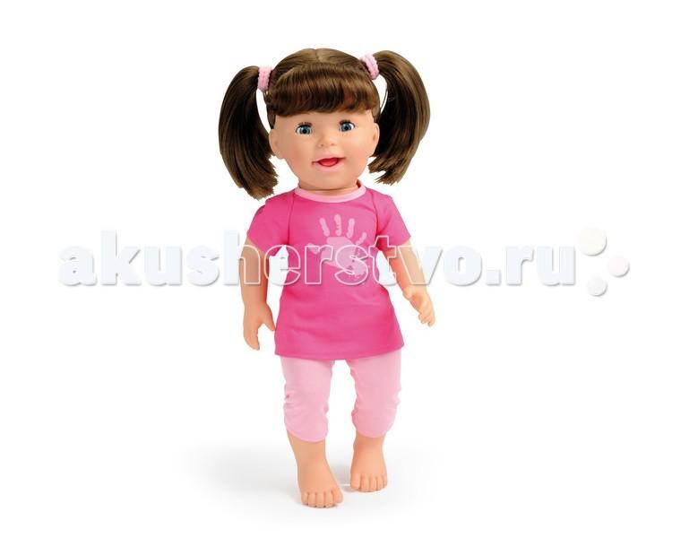 Smoby Кукла интерактивная хулиганка LiliКукла интерактивная хулиганка LiliКукла Smoby Lili   Особенности:    Хулиганка Лили показывает язык, если вы нажмете ей на живот.   Когда ее щекочут, она начинает смеяться.   В набор входит ложка для кормления, пирожное и питьевая бутылочка.   Если поднести ложечку ко рту куклы, будет имитация кормления.   Для работы требуются батарейки: 3*AA/LR06   Размер: 37 см<br>