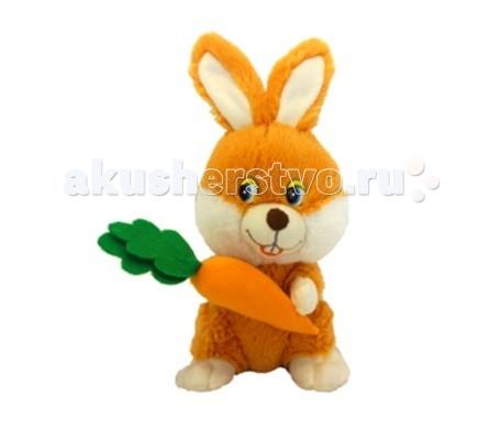 Мягкая игрушка Maxi Play Зайка с морковкой музыкальный 20 смЗайка с морковкой музыкальный 20 смМягкая игрушка Maxi Play Зайка с морковкой музыкальный станет настоящим другом-игрушкой для вашего ребенка. Малыш сможет играть с игрушкой, брать вместе с собой спать в кровать.   Особенности: Зайчик расскажет стишок: другом буду я отличным Компактную и легкую игрушку малыш всегда сможет брать с собой на прогулку. Крепкие швы надежно удерживают набивку игрушки внутри.  Такой очаровательный добродушный зайчик окажется хорошим подарком не только детям, но и взрослым. Работает от батареек.  Батарейки в комплекте.   Состав: Мех искусственный, трикотажное волокно, детали из пластмассы. Набивка - полиэфирное волокно.<br>