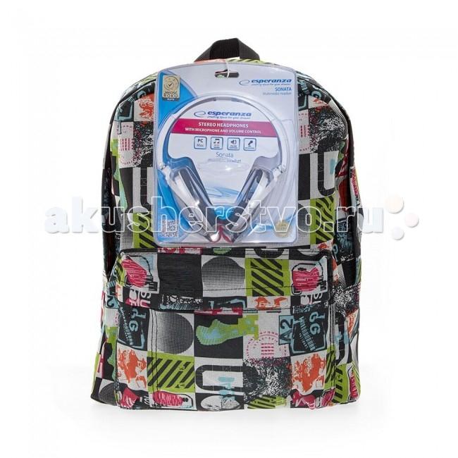 3D Bags Рюкзак Луна с наушникамиРюкзак Луна с наушникамиРюкзак Луна с наушниками 3DBC490N  Стильный, вместительный и практичный, рюкзак понравится и школьникам, и студентам.   Просторный внутренний отсек, наружный карман на молнии будут очень удобны в использовании.   В комплект входят белые стереонаушники с мягкими ушными подушками. Длина кабеля 2 м, разъем 3.5 мм, сопротивление 32 Ом, диапазон часто - 20 Гц-20000 Гц, выходная мощность - 100 мВт.  Материал - полиэстер  Размер - 40х32х13 см<br>
