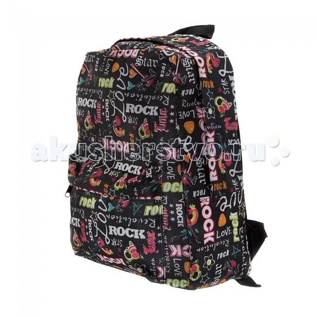 3D Bags Рюкзак Рок-СтарРюкзак Рок-СтарРюкзак Рок-Стар 3DBC491  Стильный, вместительный и практичный, рюкзак понравится и школьникам, и студентам.   Просторный внутренний отсек, наружный карман на молнии будут очень удобны в использовании. Настоящая находка для будущей рок-звезды!  Материал - полиэстер  Размер - 40х32х13 см<br>