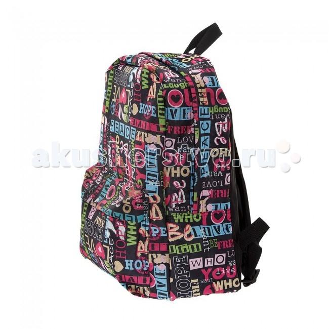 3D Bags Рюкзак ХиппиРюкзак ХиппиРюкзак Хиппи 3DBC492  Стильный, вместительный и практичный, рюкзак понравится и школьникам, и студентам.   Просторный внутренний отсек, наружный карман на молнии будут очень удобны в использовании.   Материал - полиэстер  Размер - 40х32х13 см<br>