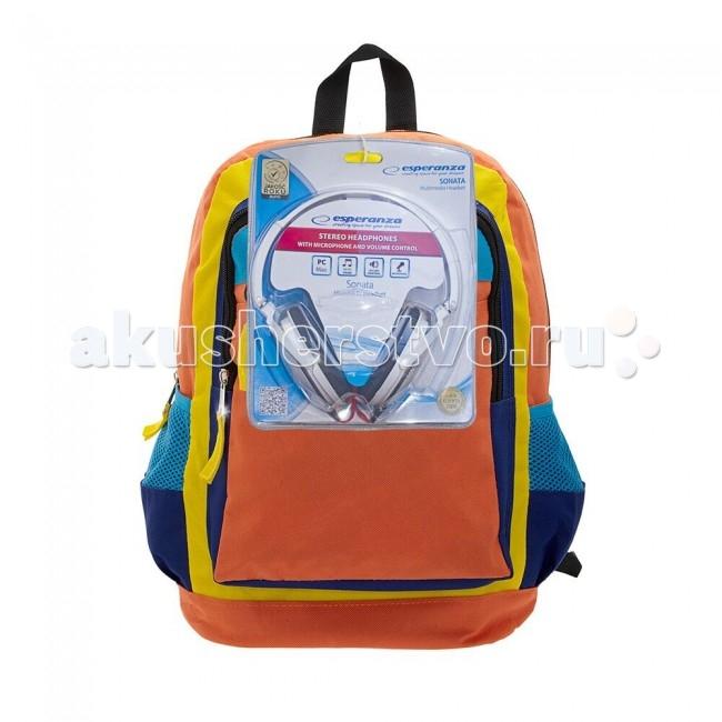 3D Bags Рюкзак Оранжевое настроение с наушникамиРюкзак Оранжевое настроение с наушникамиРюкзак Оранжевое настроение с наушниками 3DHM251N  Стильный, яркий, позитивный!!! Улучшит настроение в школьные будни и подчеркнет ваш неповторимый образ!  Просторный внутренний отсек, наружный карман на молнии будут очень удобны в использовании.   В комплект входят белые стереонаушники с мягкими ушными подушками. Длина кабеля 2 м, разъем 3.5 мм, сопротивление 32 Ом, диапазон часто - 20 Гц-20000 Гц, выходная мощность - 100 мВт.  Материал - полиэстер  Размер - 38х28х16 см<br>