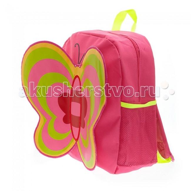 3D Bags Рюкзак БабочкаРюкзак БабочкаРюкзак Бабочка 3DHM262  Идеально подходят для хранения важных и необходимых вещей, которые так необходимы маленькой принцессе на детской площадке, во время прогулки или на пикнике.   Сделан из прочного, износоустойчивого полиэстера.   Просторный внутренний отсек будет очень удобен в использовании. Лицевая сторона рюкзака выполнена в форме объемной бабочки с большими привлекательными крылышками.   Материал - полиэстер  Размер - 33х26х12 см<br>