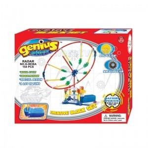 Конструктор Genius с мотором Радар (154 деталей)