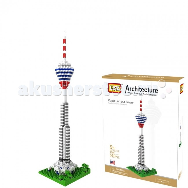 Конструктор Loz Архитектор Телебашня Куала-Лумпура (550 деталей)