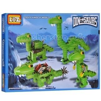 Loz Динозавры 10 в 1 Набор № 1 (265 деталей)