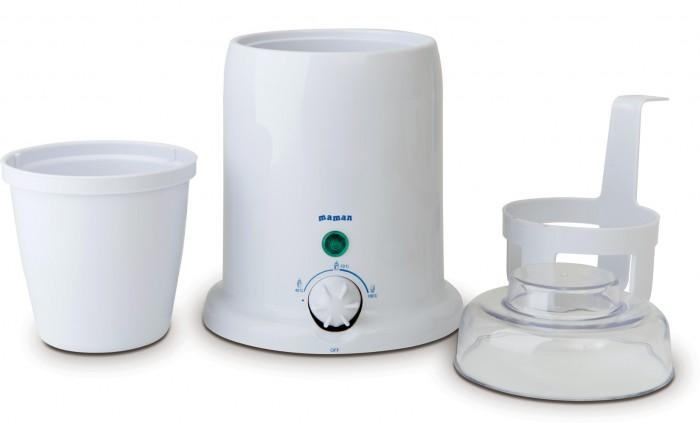 Maman Универсальный подогреватель с функцией стерилизации BY-01Универсальный подогреватель с функцией стерилизации BY-01Подходит для всех типов бутылочек. Позволяет разогревать баночки с детским питанием.   Нагревает жидкость за несколько минут.  Плавная регулировка температуры.  Автоматически поддерживает заданную температуру нагрева.  В комплекте специальный лифт для удобного извлечения баночек с детским питанием.  Стерилизация бутылочек, сосок, пустышек.  Безопасный, экономичный и надежный нагревательный элемент.  Индикатор состояния нагрева и готовности.  В комплекте: подогреватель, лифт, стакан с крышкой.<br>