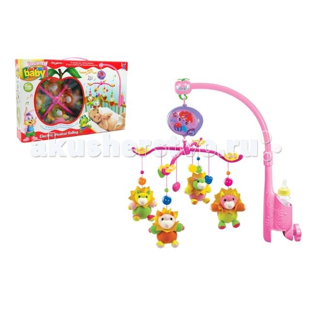 Мобиль Henglei  Пони с батарейкамиПони с батарейкамиМузыкальный мобиль Пони с батарейками.  Помогает им в развитии фиксирования зрения на движущихся предметах, улучшает засыпание. Цветные игрушки привлекут его внимание, а звук мелодии позволит ребёнку успокоиться.   Характеристики: мягкие игрушки - пони музыкальный блок с регулировкой звука держатель для бутылки на батарейках выполнены из безопасных материалов высокого качества<br>