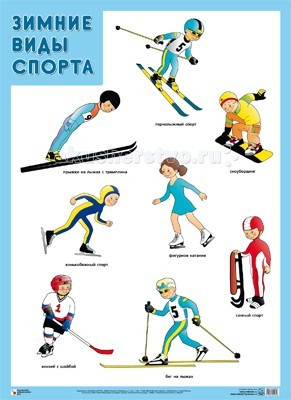Мозаика-Синтез Обучающий плакат Зимние виды спорта