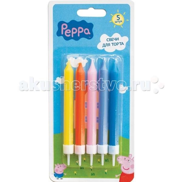 Peppa Pig Набор свечей с держателем 5 шт.