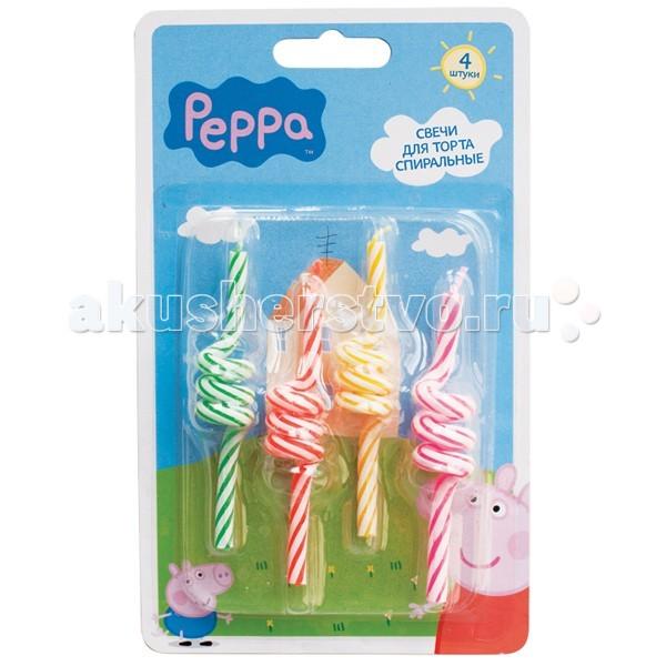 Peppa Pig Набор спиральных свечей 4 шт.