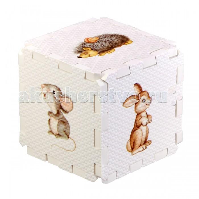 Робинс Кубик EVA Лесные животныеКубик EVA Лесные животныеНабор состоит из 6 больших деталей-пазлов, которые можно собрать в объёмный кубик. Собирая кубик и играя с этими деталями-пазлами, малыши тренируют мелкую моторику, развивают мышление, память, внимание, а также получают навыки творческого конструирования. Детали-пазлы сделаны из экологически чистого и гипоаллергенного материала ЭВА (EVA), который не имеет цвета, запаха и вкуса, а значит, идеально подходит для первых развивающих игрушек и игр для самых маленьких детей.  В чём его особенности: • детали-пазлы можно грызть, мять, гнуть, сжимать и мочить, и при этом они не испортятся;  • с набором можно играть в ванной, детали плавают в воде и легко крепятся к кафелю и стенкам ванной;  • уникальная технология печати картинок на пазлах передаёт все оттенки цветов, и дети быстрее учатся узнавать нарисованные на них предметы в окружающем мире;  • набор идеально подходит для развития детской моторики, сенсорики, навыков конструирования;  • детали-пазлы из разных наборов подходят к друг другу, вы легко можете комбинировать разные наборы.<br>