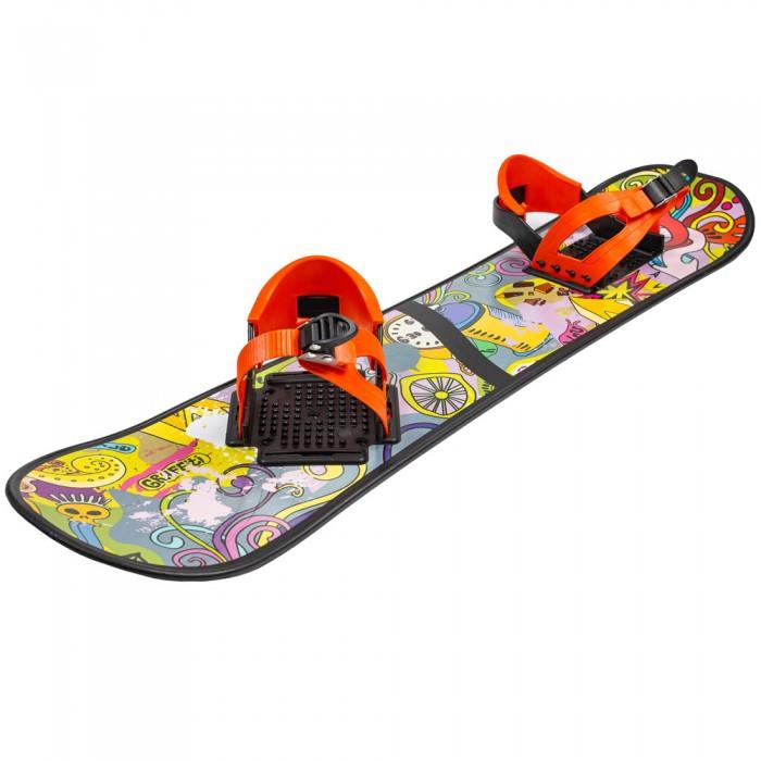 Ледянка R-Toys Детский сноуборд с креплениямиДетский сноуборд с креплениямиДетский сноуборд. Ребенок будет горд им ,а Вы - своим ребенком.  Не требует специальной обуви. Легок в управлении.  После этого сноуборда малыш быстро освоить настоящий сноуборд.   Качество пластика HDPE - это самые новейшие технологии, ударопрочный и морозоустойчивый.<br>