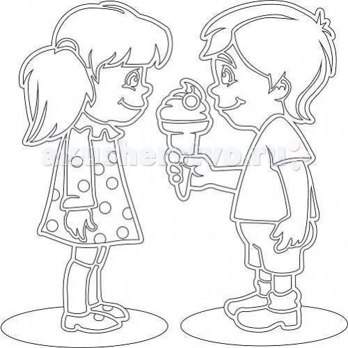 Kidsation Песочный трафарет Девочка и мальчикПесочный трафарет Девочка и мальчикKidsation Песочный трафарет Девочка и мальчик. Раскрашивать такие картины песком весьма увлекательно, а результаты выходят очень красивыми.   Известно, что рисование разноцветным песком хорошо влияет на психологическое состояние детей и даже взрослых! Раскрашивать песком такие трафареты можно как угодно, и особенно красиво выглядит смешение песка нескольких цветов. Проявив капельку старания, можно добиться интересных полутонов и оттенков с помощью песчинок-пикселей настоящего, а не электронного рисунка.  Трафарет формата А4 (210 х 297 мм) выполнен из плотного картона с самоклеющейся основой, на который нанесен лазером рисунком.<br>