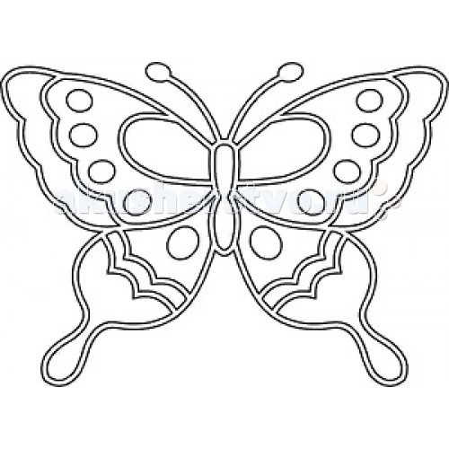 Kidsation Песочный трафарет с магнитом Бабочка