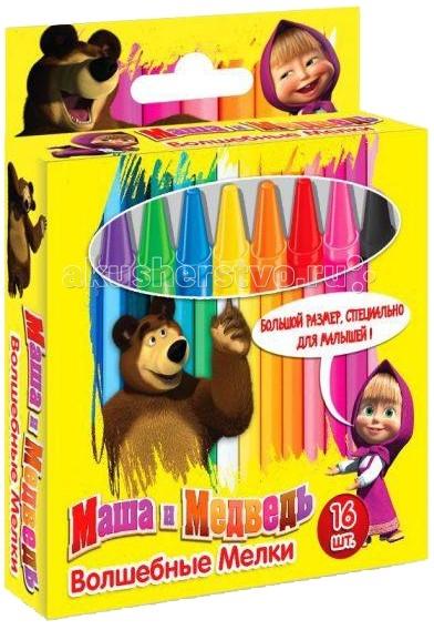 Маша и Медведь восковые большие 16 штук