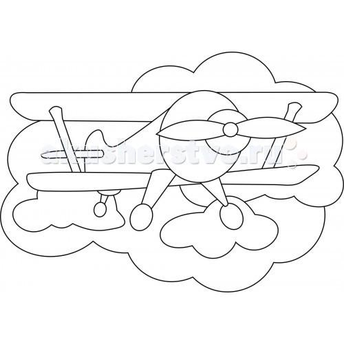 Kidsation Песочный трафарет с магнитом Самолетик