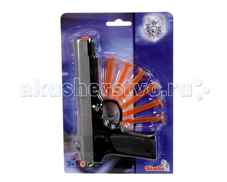 Simba игрушечный Пистолет с липучкамиигрушечный Пистолет с липучкамиОружие игрушечное Simba Пистолет с липучками — игрушечное оружие, с которым малыш почувствует себя настоящим стрелком.    Особенности:    Стрельба производится безопасными снарядами, что делает игровой процесс более реалистичным  В качестве мишени можно использовать простые картонные листы с нарисованной целью, это поможет грамотно выработать умение стрельбы  В наборе 6 липучек  Изготовлен из высококачественной пластмассы   Размер: 22 см<br>