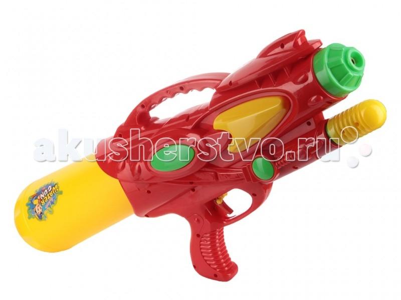 Тилибом Водный пистолет с помпой 49х20 смВодный пистолет с помпой 49х20 смТилибом Водный пистолет с помпой 49х20 см - для веселых игр с водой в жаркую, летнюю погоду!  С ним можно интересно провести летний жаркий день и устроить веселые водные сражения.   Стоит только нажать на курок игрушечного пистолета, как выстрелит тонкая струя воды, поразив противника. Это будет очень весело и не оставит без внимания ни одного мальчугана. Ребята будут хоть целый день бегать и прыгать, играя с водным пистолетом, заодно становясь сильнее, быстрее и ловчее, а также развивая моторику, быстроту реакции и координацию движений, внимательность.<br>