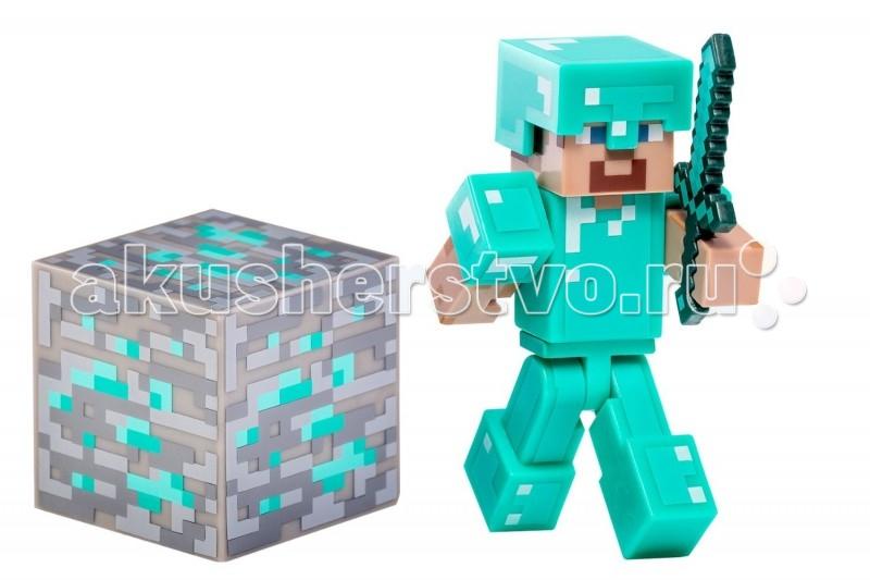 Minecraft Игровой набор Стив в алмазной броне 3 предмета
