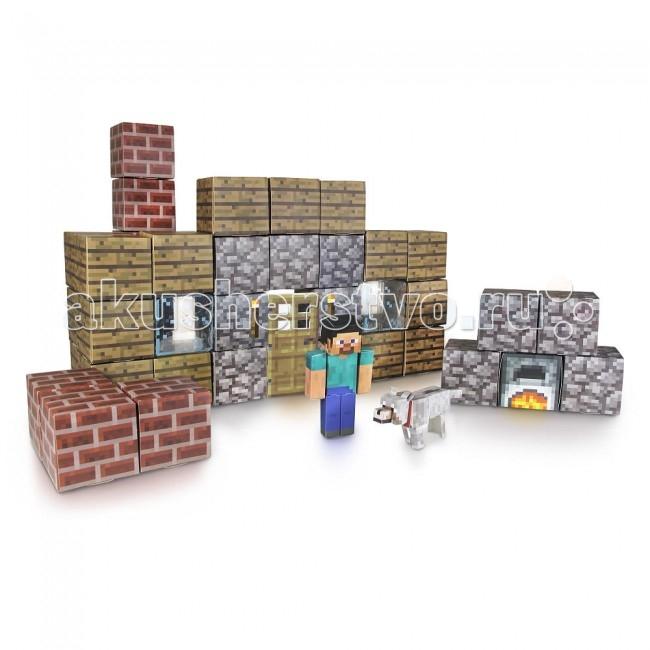 Конструктор Minecraft Убежище из бумаги 48 деталейУбежище из бумаги 48 деталейЭто большой набор бумажного конструктора Minecraft Papercraft с помощью которого Вы можете собрать главного героя игры - Стива, его собачку, а также кучу пиксельных блоков, из которых Вы можете построить настоящее убежище! Данный конструктор Майнкрафт Паперкрафт превосходно подходит в качестве стартового набора. Детали игры выдавливаются из специального листа и собираются, что позволяет развивать логику и мелкую моторику пальцев. Собери все наборы и построй собственную вселенную Майнкрафт у себя дома!   Комплектация:  44 листа конструктора  1 бумажная лента  6 блоков с наклейками  Характеристики:  Материал: Бумага, картон Размер упаковки: 5.08 x 31.115 x 21.59 см<br>