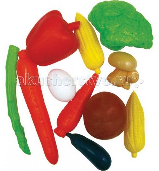 Тилибом Набор овощей 11 шт.Набор овощей 11 шт.Тилибом Набор овощей 11 шт. станет незаменимым дополнением к кухне вашей маленькой хозяйки, ведь с ним она сможет вкусно накормить всех своих кукол.   Игра с набором познакомит с различными овощами и разовьет фантазию. В наборе представлены 11 предметов, размером от 6 до 17 см.  Набор состоит из муляжей различных овощей: картофеля, кабачка, морковки, баклажана, помидора, тыквы, зеленого и красного болгарских перцев.<br>