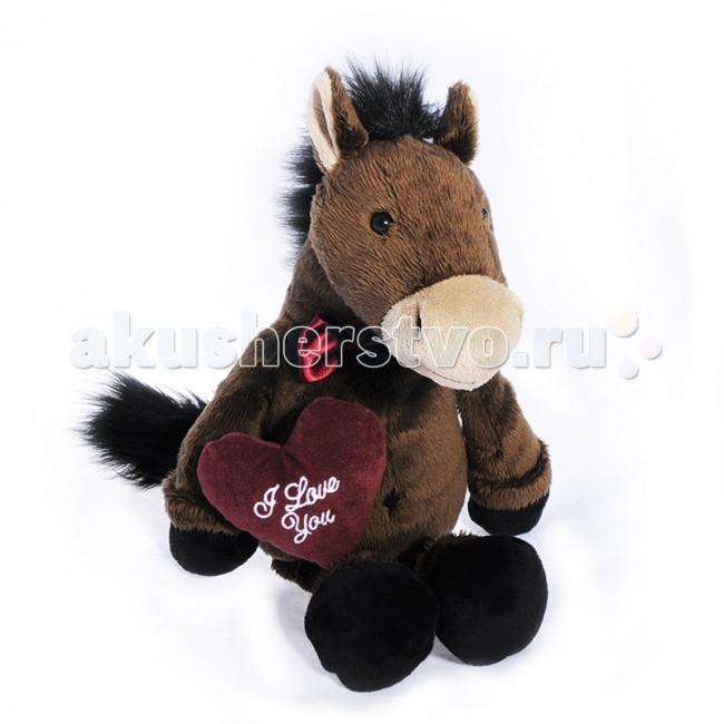 Мягкая игрушка Maxitoys Конь Джекки с сердцем 35 см