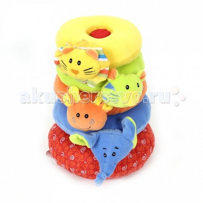 Развивающая игрушка I-Baby пирамидка Друзья из джунглейпирамидка Друзья из джунглейI-BABY Развивающая игрушка пирамидка Друзья из джунглей   Характеристики: Игрушка пирамидка с 4-я мягкими велюровыми кольцами Мягкая велюровая игрушка на каждом кольце Игрушка-пищалка Игрушка-погремушка Игрушка с элементами шуршания Игрушка выполнена из высококачественных материалов  Размер: 23 см<br>