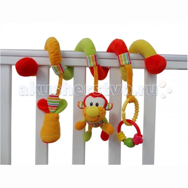 I-Baby Спираль на кроватку ОбезьянаСпираль на кроватку ОбезьянаI-BABY Спираль на кроватку Обезьяна 26 см   Характеристики: Спираль на кроватку, коляску Со звуками, с веселыми игрушечными элементами С элементами шуршания Игрушка выполнена из высококачественных материалов  Размер: 26 см<br>