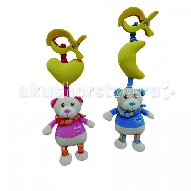 Подвесная игрушка I-Baby Мишка на клипсе