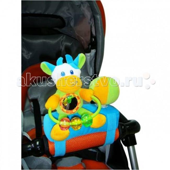Подвесная игрушка I-Baby на коляску Коровкана коляску КоровкаI-BABY Развивающая игрушка подвеска на бампер коляски Коровка   Характеристики: Развивающая игрушка подвеска с креплениями на липучках С веселыми игрушечными элементами С погремушкой, элементами шуршания, пищалкой Прорезыватели Игрушка выполнена из высококачественных материалов  Размер: 20x18x9.5 см<br>