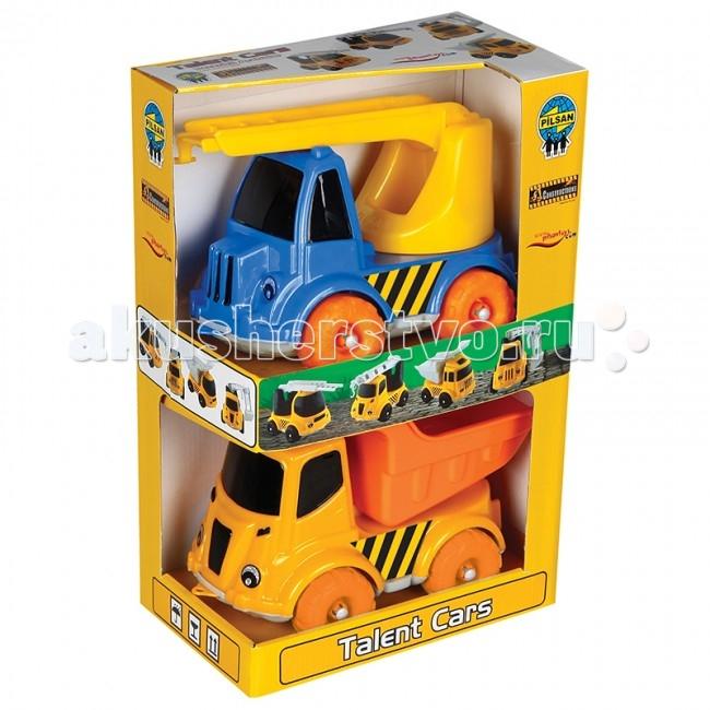 Pilsan Машинка-Спецтехника 2 шт.Машинка-Спецтехника 2 шт.Набор из 2 грузовиков Pilsan предназначен для детей от 2 лет.   Большие колеса машинок вызовут интерес у Вашего малыша.   Набор изготовлены из экологически чистых материалов.   Среди огромного количества детских игрушек выгодно отличается продукция турецкой компании Pilsan, которая является лидером в производстве крупногабаритных игрушек для детей разных возрастов. Продукцию компании Pilsan характеризует высокое качество, недаром лозунг компании звучит как «Quality in Toys» - «Качество в игрушках». Продуманный дизайн, тестирование, обеспечение контроля на всех стадиях производства подтверждает слоган компании. Все игрушки, производимые компанией Pilsan, отличаются высоким качеством, безопасны, не содержат вредных материалов и красителей, для производства используется экологически чистый пластик.<br>