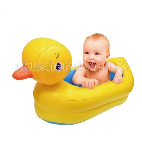 Бассейн Upright УтенокУтенокСухой надувной бассейн Утенок подходит как для игр в помещении, так и для отдыха детей на даче и за городом.  Сама конструкция надувная, так что любые повреждения и травмы об её углы исключены. Можете смело позволить ребёнку резвиться вдоволь не переживая за его безопасность.  Размер: 94x50x52 см.<br>