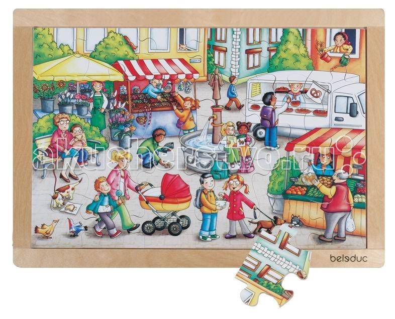 Деревянная игрушка Beleduc Развивающий Пазл Рынок 12002