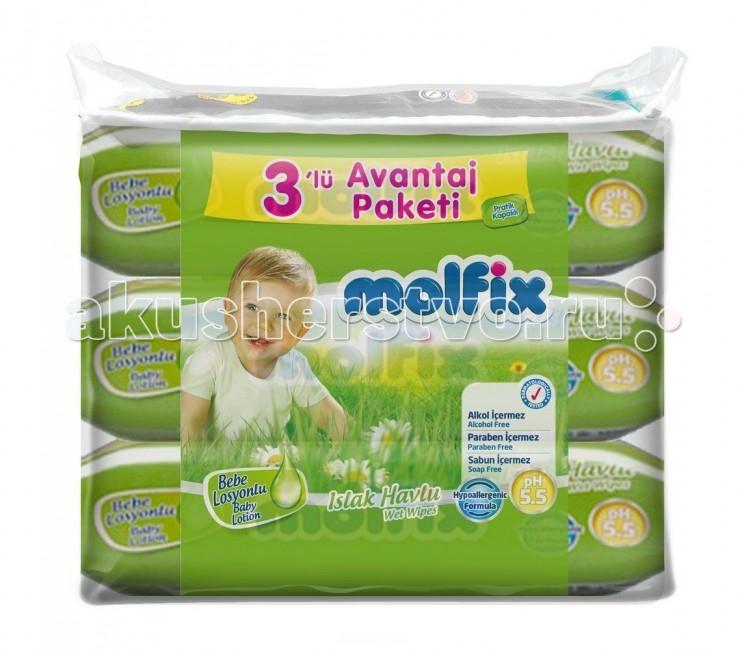 Molfix Влажные салфетки с детским лосьоном 189 шт.