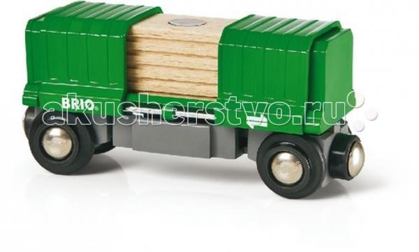 Brio Вагон раздвижной 2 элементаВагон раздвижной 2 элементаВагон раздвижной, 2 элемента, 10,8х3,4х5см Brio.  Вагон раздвижной, 2 элемента. Отличным дополнением к серии игрушек Железная дорога от Brio станет этот небольшой раздвижной вагончик с грузом. Благодаря масштабу, раздвижной вагончик идеально подойдет ко всем игрушкам серии. Подходит для ж/д Brio. Специальные магнитные элементы, находящиеся с обоих концов вагончика позволят сделать его элементом большого железнодорожного состава.   За раздвижными дверцами вагончика находится груз, который так же имеет специальную магнитную вставку в верхней части, его будет легко отгружать с помощью подъемного крана Brio. Изготовленные из натуральной древесины, игрушки абсолютно безопасны для здоровья ребенка и не вызывают аллергии, а хорошо подобранный размер игрушек позволяет снизить риск травматичности во время игры. Возраст: от 3х лет  Размер вагончика ок. 10,8х3 см  Размер груза ок.4х5 см.<br>