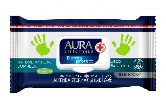Aura Влажные салфетки антибактериальные 72 шт.Влажные салфетки антибактериальные 72 шт.Влажные салфетки антибактериальные Aura 72 шт.  Влажные салфетки содержат мягкий очищающий лосьон, который убивает большинство бактерий и микробов.   Не содержит спирта.  Находятся в удобной упаковке, которая легко поместится даже в небольшой сумочке.<br>