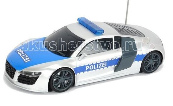 Dickie Радиоуправляемый автомобиль Полицейский патрульРадиоуправляемый автомобиль Полицейский патрульРадиоуправляемый автомобиль Dickie Полицейский патруль  Такой игровой набор понравится любому ребёнку, который хочет почувствовать себя настоящим отважным полицейским.    Особенности:    Максимальная скорость разгона машинки составляет 8 км. в час.  Во время движения у игрушки загорается передний и задний свет, а также включается звуковая сирена, и загораются мигалки синего цвета.  Для работы пульта необходимо наличие 1 батарейки типа 9V 6F22, которая уже входит в набор  Для машинки необходимо 5 батареек типа 1,5 V LR6, которые также предоставлены в наборе  Масштаб 1:16   Размер: 28 см<br>