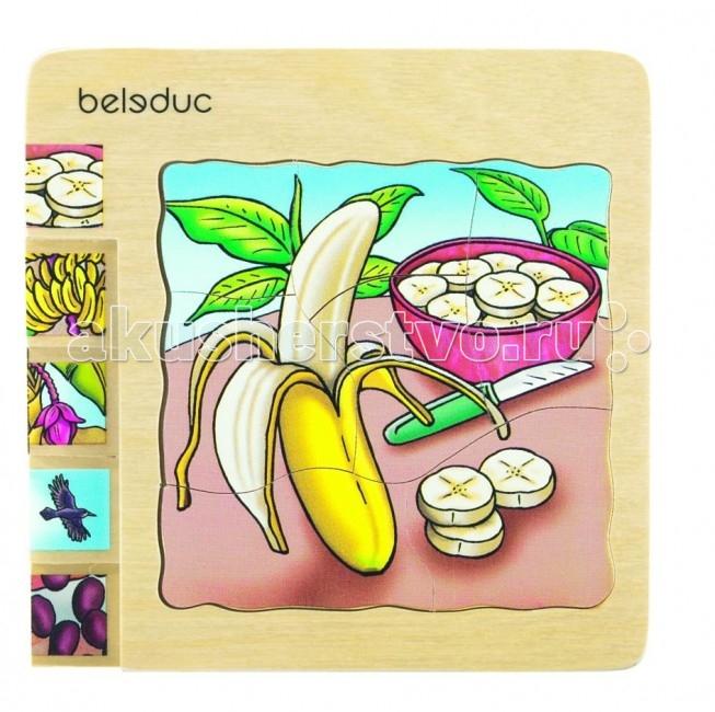 Деревянная игрушка Beleduc Развивающий Пазл Банан 17049