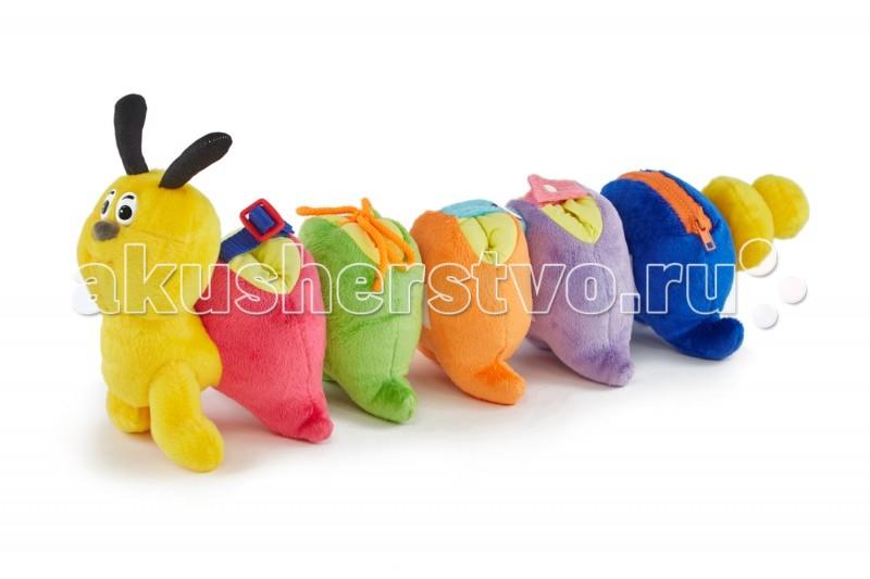 Развивающая игрушка Pic`n Mix Гусеница-веселые застежкиГусеница-веселые застежкиРазвивающая игрушка Pic`n Mix Гусеница-веселые застежки позволяет смоделирвоать 3 различные игры, каждая из которых направлена на обучение ребенка определенным навыкам и усвоение им новых знаний.   Игрушка позволяет научить ребёнка самостоятельно одеваться и пользоваться различными типами застежек, также в процессе игры стимулирются навыки зрительной памяти, логики, и происходит знакомство ребенка с простым счетом от 1-го до 5-ти.  Состав: синтетический текстильный материал, мягконабивные элементы, элементы из полимерных материалов<br>