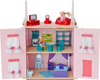 Paremo Кукольный домик МиланаКукольный домик МиланаКукольный домик Paremo Милана - очень нежный и романтичный кукольный домик МИЛАНА выполнен в розовой цветовой гамме, украшен коралловыми орнаментами и укомплектован игровыми аксессуарами. В домике 2 основных этажа и 3-й мансардный.   Разработан для формата мини-кукол высотой до 15 см  Основные характеристики: игрушка 100% деревянная, ни одного пластикового элемента в каркасе и мебели кукольный дом Милана относится к типу закрытых домиков (лицевые фасады открываются, створки крыши перекидываются или полностью снимаются для удобства игры) размеры домика: 65 х 35 х 45 см разработан для формата мини-кукол высотой до 15 см оконные рамы и дверь открываются и закрываются  В комплекте: 15 предметов кукольной мебели, 23 декоративные наклейки, 3 карниза для штор.   ВНИМАНИЕ: куклы, игрушечные питомцы и текстиль приобретается отдельно!<br>