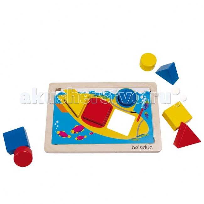 Деревянная игрушка Beleduc Развивающая игра ГеоСортер 21010Развивающая игра ГеоСортер 21010Развивающая игра ГеоСортер 21010 Beleduc  Сортировать формы, складывать их и снова повторять все заново - это основной смысл игры Геосортер.   Игра знакомит малыша с основными формами и цветами.   Двенадцать заданий с различной степенью сложности предусмотрены в этой игре для развития навыков моторики, логики, мышления, распознавания цветов и форм, развития фантазии.  Включает 17 деталей: 1 деревянная рамка, 6 карточек с заданием, 9 деревянных геометрических фигур, 1 мешочек.   Все детали выполнены из высококачественных материалов, совершенно безопасных для маленьких детей.  Игры Beleduc идеально подходят для начального развития детей, задолго до того, как они идут в школу, но и просто для интересного времяпрепровождения. Игры Beleduc идеально подходят для совместной игры родителей и детей. Некоторые игры очень понравятся взрослым, которые с удовольствием втянутся в процесс игры.<br>