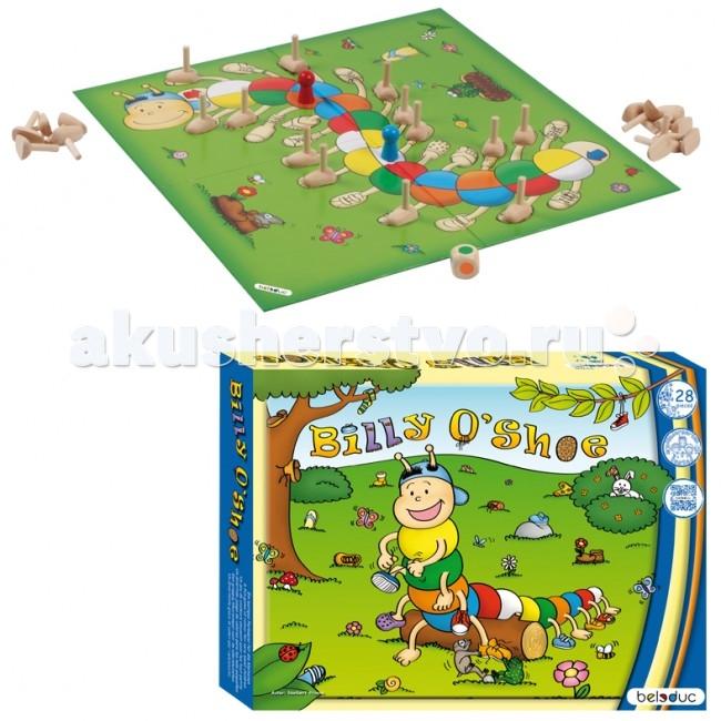 Beleduc Развивающая игра Билли О'Шу 22702Развивающая игра Билли О'Шу 22702Развивающая игра Билли О'Шу 22702 Beleduc  Игра предназначена для 2 игроков, которым раздается по 12 ножек. Игроки по очереди бросают кубик и ставят деревянные ножки на игровом поле в соответствии с выпавшим на кубике цветом.   В процессе игры дети учатся следовать элементарным правилам, развивают мелкую моторику, стратегическое мышление.  Включает 28 деталей: 1 игровое поле (367 x 367 x 2.4 мм), 24 ножки, 2 игровые фигурки, 1 кубик с цветами.  Все детали выполнены из высококачественных материалов, совершенно безопасных для маленьких детей.  Игры Beleduc идеально подходят для начального развития детей, задолго до того, как они идут в школу, но и просто для интересного времяпрепровождения. Игры Beleduc идеально подходят для совместной игры родителей и детей. Некоторые игры очень понравятся взрослым, которые с удовольствием втянутся в процесс игры.<br>