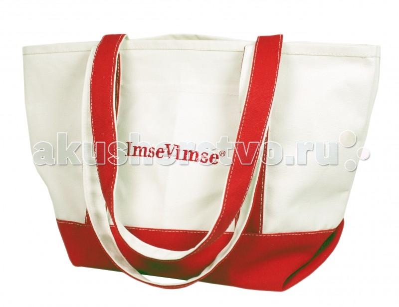ImseVimse Сумка для мамыСумка для мамыУдобная и вместительная сумка для мамы из хлопка.   Вы можете взять с собой на прогулку или поездку все, что необходимо.  Украшена вышивкой фирменного логотипа.  Размер 35х45 см, длина ручек 68 см.<br>